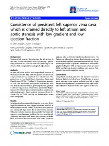 Coexistence of persistent left superior vena cava which ... - Springer Link