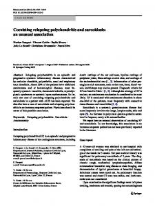 Coexisting relapsing polychondritis and sarcoidosis - Springer Link