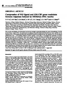Coexpression of Flt3 ligand and GM-CSF genes modulates ... - Nature