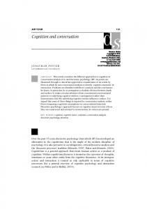 Cognition and conversation - SAGE Journals - Sage Publications