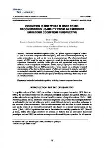 cognition is not what it used to be: reconsidering ... - JYX front page