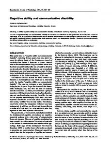 Cognitive ability and communicative disability