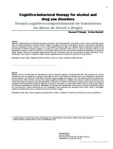 Cognitive-behavioral therapy for alcohol and drug ... - Semantic Scholar