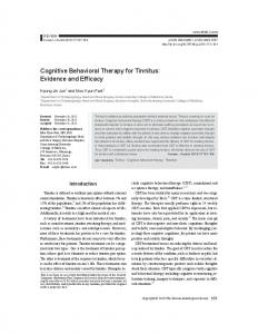 Cognitive Behavioral Therapy for Tinnitus - Semantic Scholar