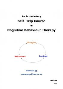 Cognitive Behaviour Therapy - how it can help - DBT Self Help