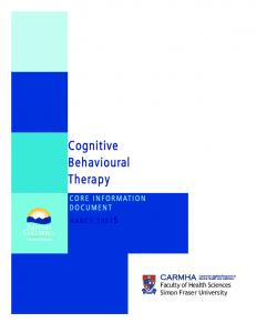 Cognitive Behavioural Therapy - Health