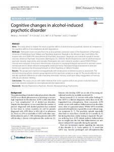 Cognitive changes in alcohol-induced psychotic disorder