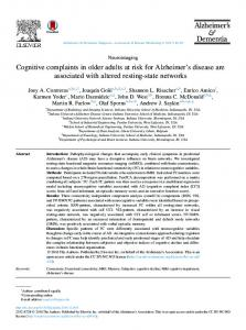 Cognitive complaints in older adults at risk for ... - Semantic Scholar
