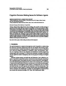 Cognitive-Decision-Making Issues for Software Agents - Romi Satria ...