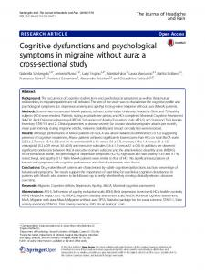 Cognitive dysfunctions and psychological symptoms in ... - Core