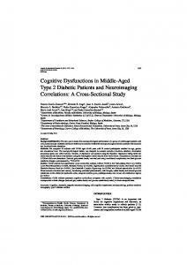 Cognitive Dysfunctions in Middle-Aged Type 2 Diabetic ... - IOS Press
