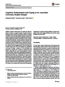 Cognitive Enhancement and Coping in an Australian University ...