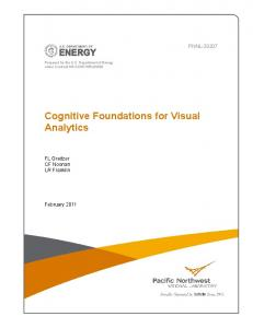 Cognitive Foundations for Visual Analytics