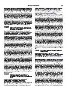 Cognitive function and cognitive change in dementia, mild cognitive ...