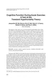 Cognitive Function During Acute Exercise: A Test ... - Semantic Scholar