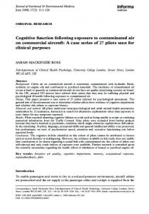 Cognitive function following exposure to contaminated air ... - CiteSeerX
