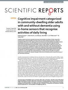 Cognitive impairment categorized in community ... - Semantic Scholar