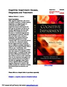 Cognitive Impairment: Causes, Diagnosis and ...