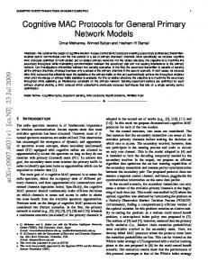 Cognitive MAC Protocols for General Primary ... - Semantic Scholar