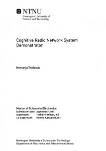 Cognitive Radio Network System Demonstrator