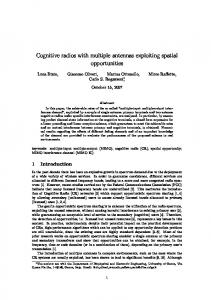 Cognitive radios with multiple antennas exploiting ...