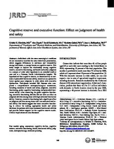 Cognitive reserve and executive function