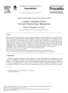 Cognitive Simulation Driven Domestic Heating