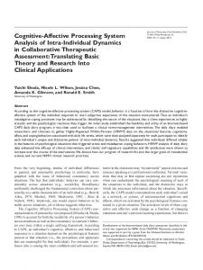 CognitiveAffective Processing System Analysis of IntraIndividual ...