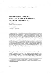 coherence and narrative structure in personal ...