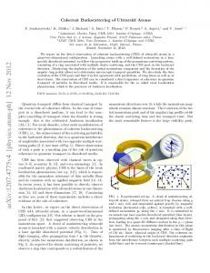 Coherent Backscattering of Ultracold Atoms