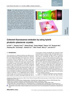 Coherent fluorescence emission by using hybrid ... - Wiley Online Library
