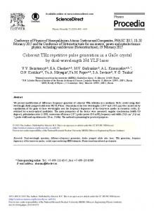Coherent THz Repetitive Pulse Generation in a ... - ScienceDirect.com