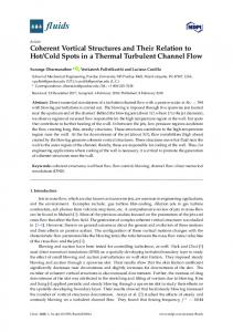 Coherent Vortical Structures and Their Relation to Hot/Cold ... - MDPI