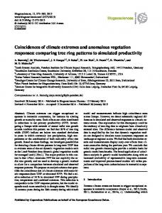 Coincidences of climate extremes and anomalous ... - Biogeosciences