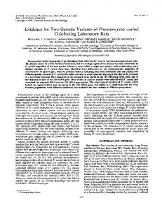 Coinfecting Laboratory Rats - Journal of Clinical Microbiology