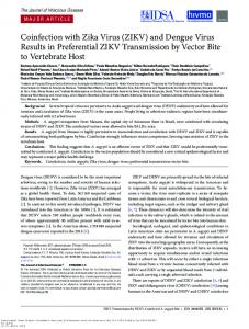 Coinfection with Zika Virus (ZIKV) and Dengue Virus