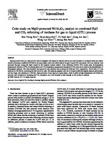 Coke study on MgO-promoted Ni/Al2O3 catalyst in ... - CiteSeerX