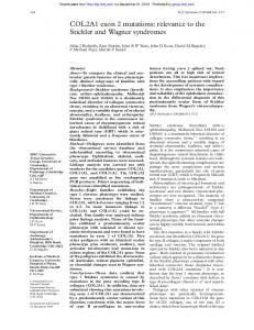 COL2A1 exon 2 mutations: relevance to the Stickler ...