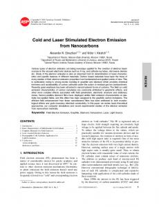 Cold and Laser Stimulated Electron Emission from