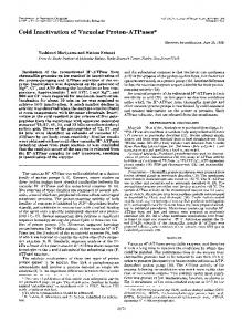 Cold Inactivation of Vacuolar Proton-ATPases - The Journal of ...