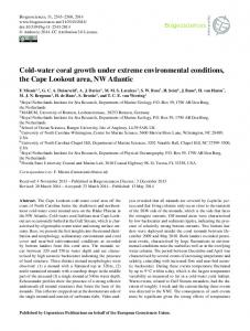 Cold-water coral growth under extreme environmental conditions, the