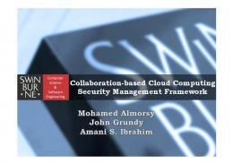 Collaboration-based Cloud Computing Security Management ...