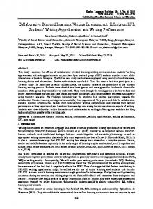 Collaborative Blended Learning Writing Environment - ERIC