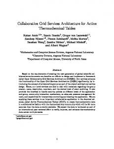 Collaborative Grid Services Architecture for Active ... - CiteSeerX
