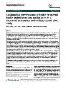Collaborative learning about e-health for mental health professionals