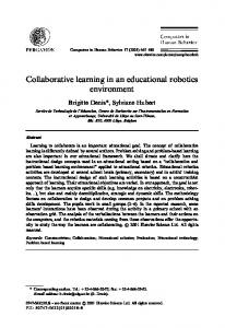 Collaborative learning in an educational robotics ... - CiteSeerX