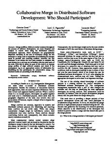 Collaborative Merge in Distributed Software Development: Who ...