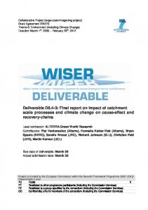 Collaborative Project (large-scale integrating project) - WISER