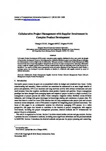 Collaborative Project Management with Supplier ... - Semantic Scholar