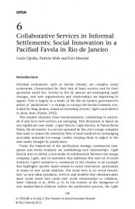 Collaborative Services in Informal Settlements: Social ... - Core